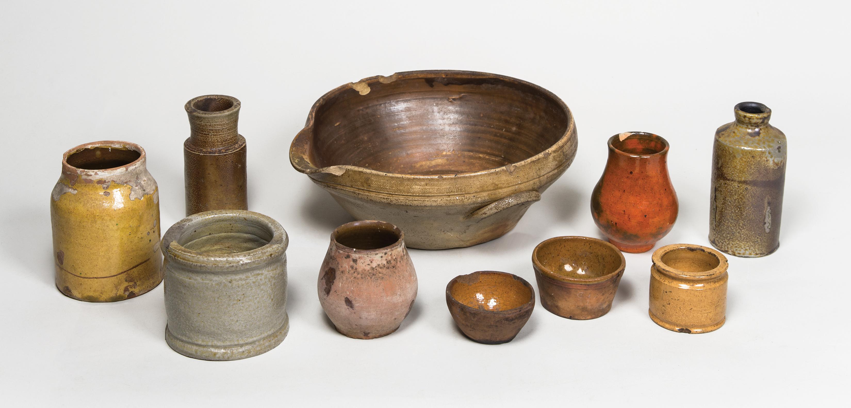 stoneware, redware, jars