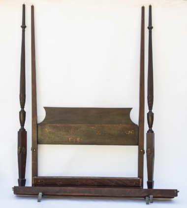 tall, post, bed, mahogany