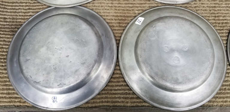 pewter, plates