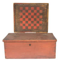 checkerboard, lift, lid, box, pine