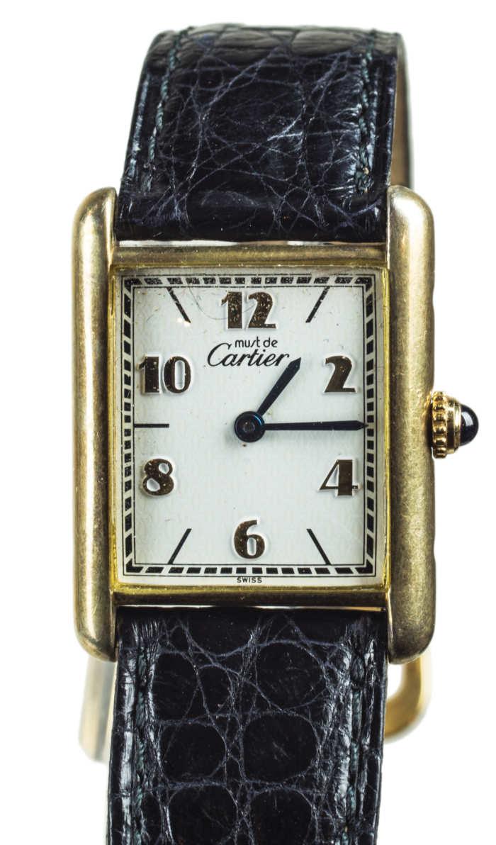 cartier, wristwatch, leather