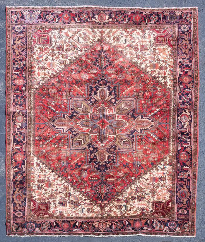 persian, oriental, rug, heriz