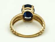 gold, ring, sapphire, 14k