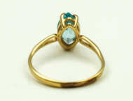 gold, ring, topaz
