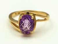 gold, ring, amethyst