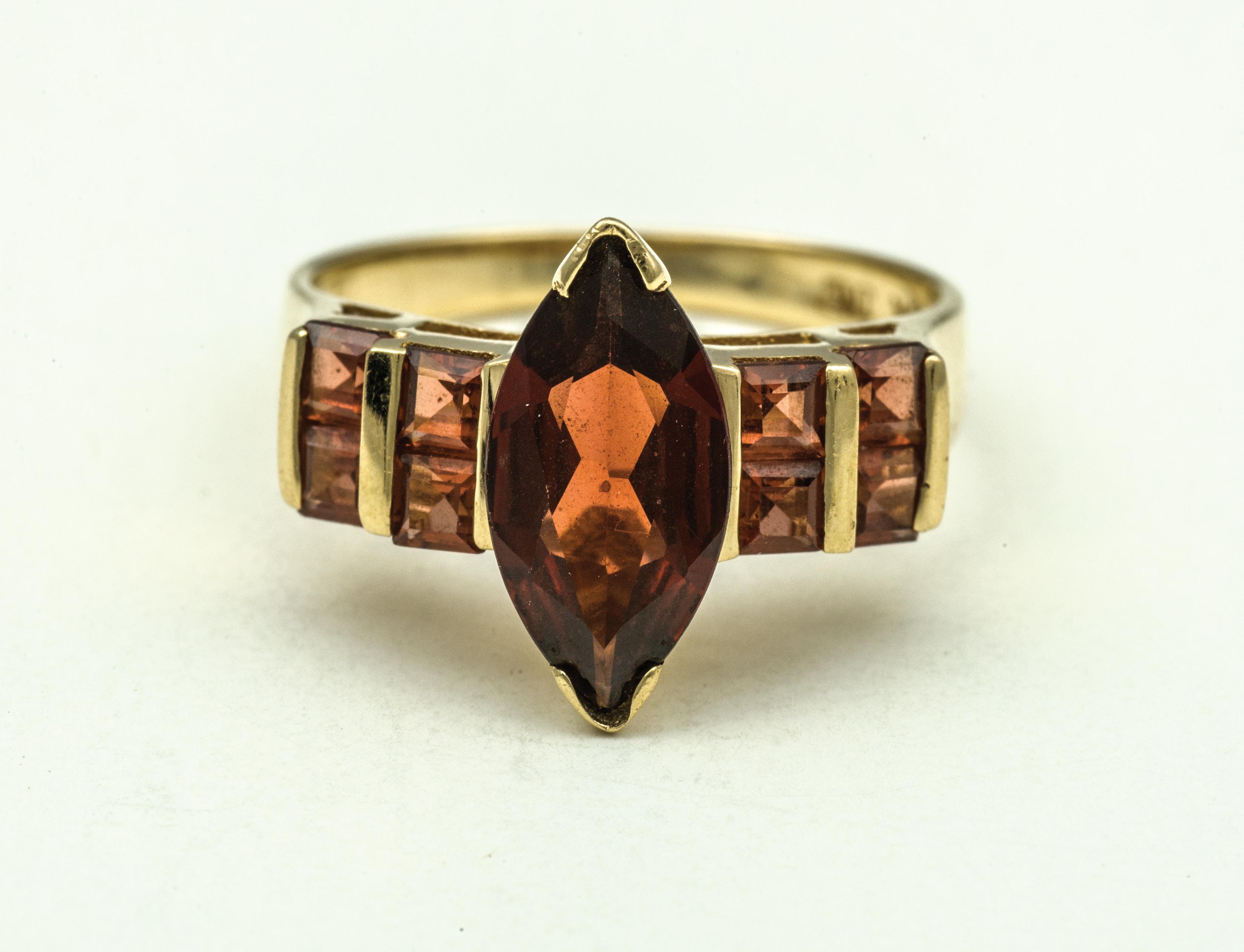 gold, ring, garnet