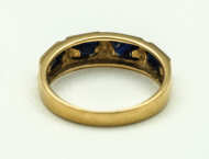 gold, ring, blue, spinel