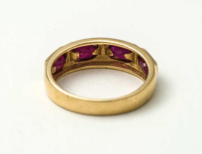gold, ring, topaz