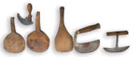 carved, butter, paddles, steel, choppers