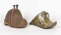 brass, wooden, stirrups