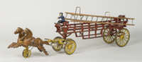 cast, iron, fire, wagon