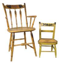 thumbback, arrowback, armchair, chairs