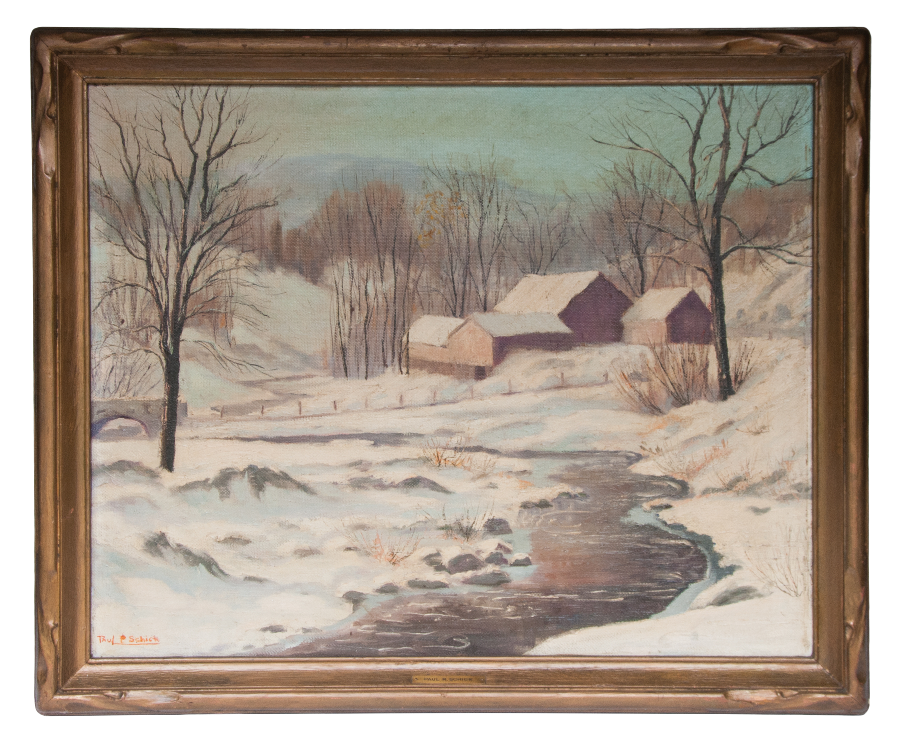 oil, paintings, winter