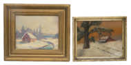 oil, paintings, winter