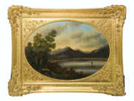 oil, paintings, hudson, river, hovey