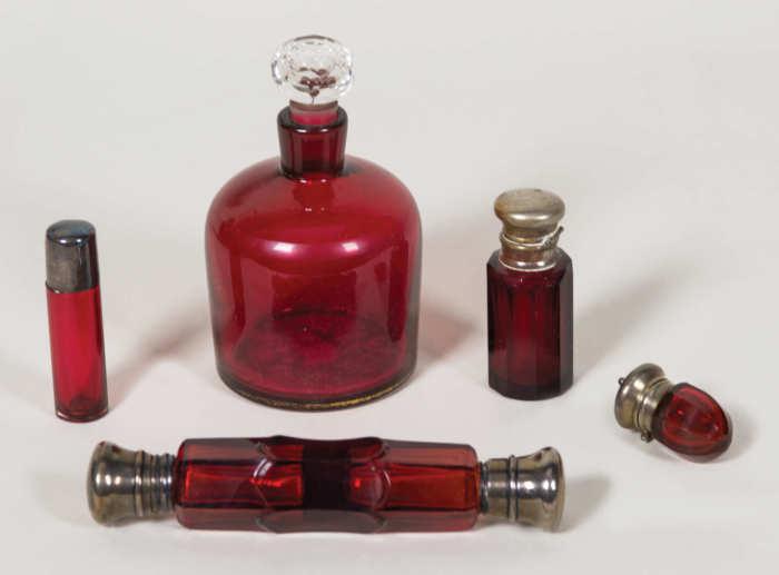 perfumes, glass