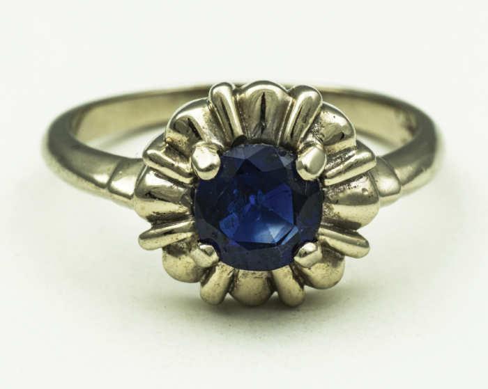 14k, gold, rings, sapphire