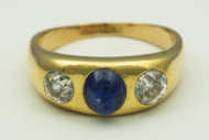 gold, ring, diamond, sapphire