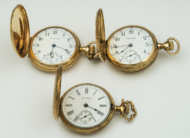 ladies, gold, pocket, watch, 14k, gold