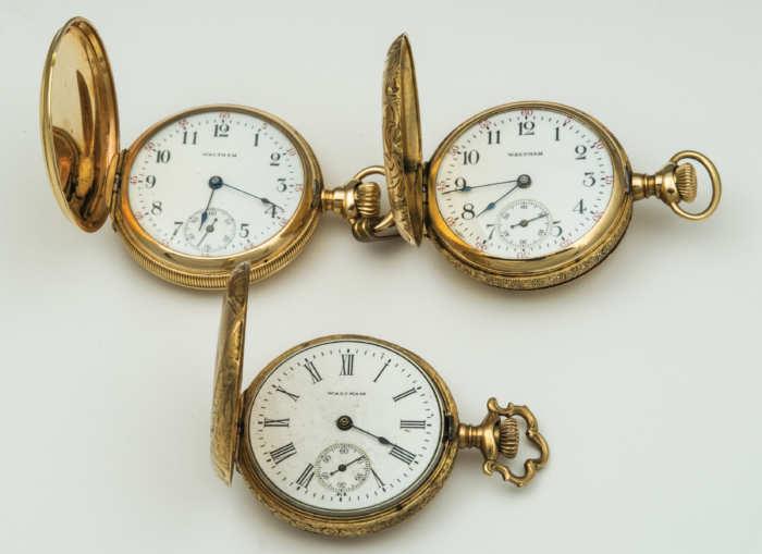 ladies, gold, pocket, watch, 14k, gold