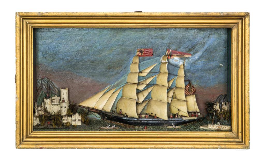 19TH C. FOLK ART SHADOW BOX