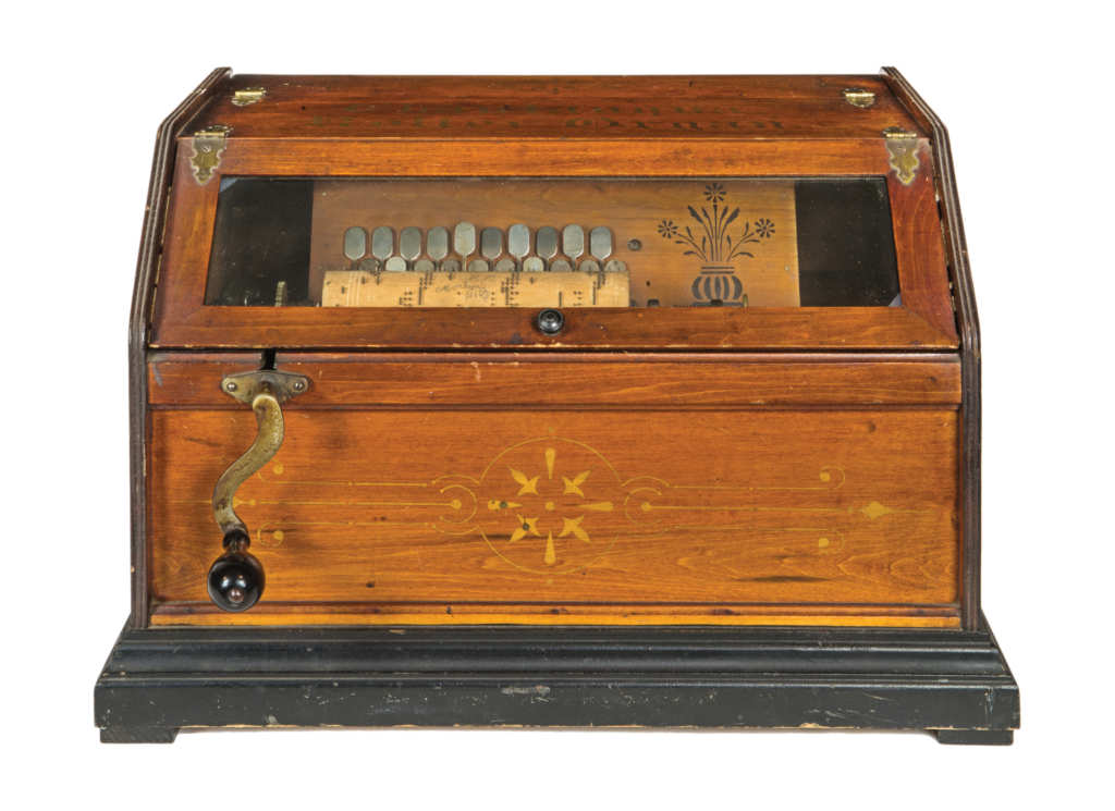 TWO MUSIC BOXES