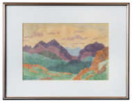 20th C. Woodblock Colored Print