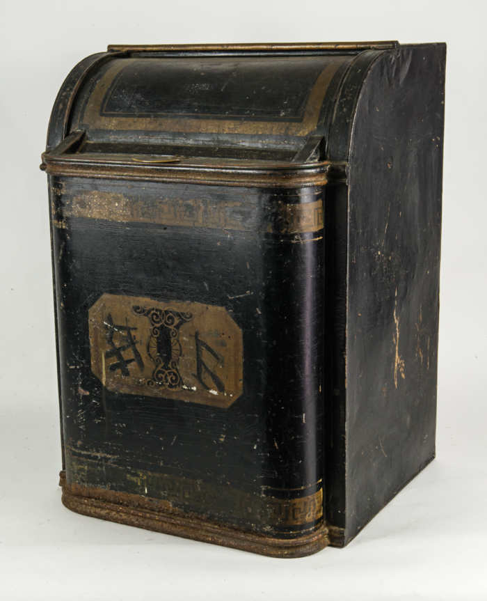Two Chinese Tin Tea Bins