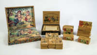 Three Boxes Of Children's Toy Blocks