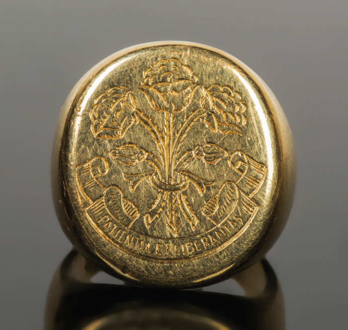 Engraved Gold Ring