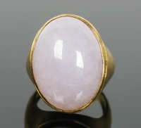 Gold Ring with Jadite
