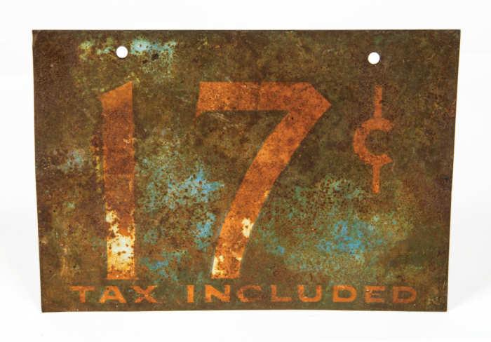 Mid 20th C. Tin Sign