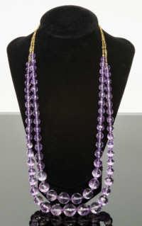 Amethyst Cut Bead Necklace