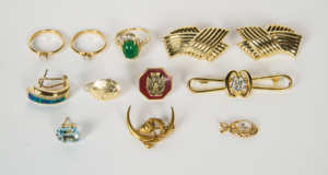 Rings, Earrings, Pins, Pendant