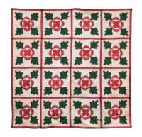 19th C. Quilt and Rack