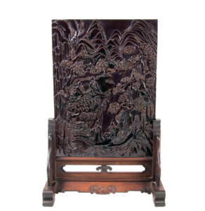19th C. Chinese Rectangular Table Screen