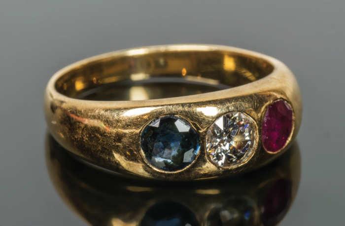 Diamond and Topaz Ring