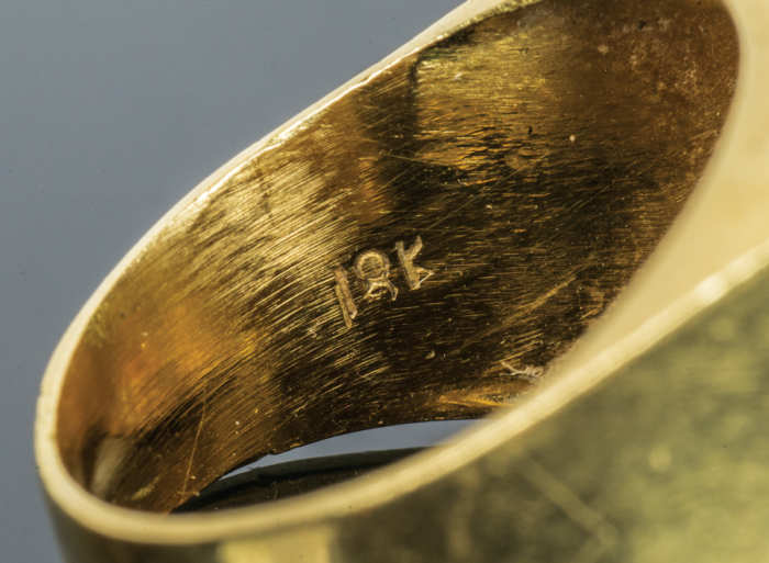 Gold Ring with Inset Coin