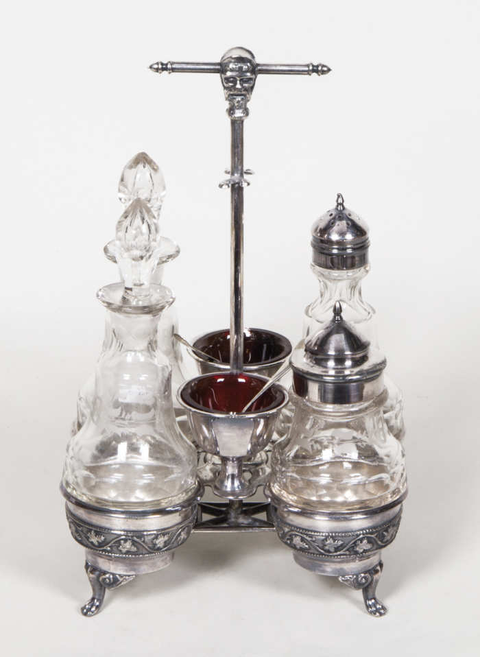 Very Fine 19th C. Silver Castor Set