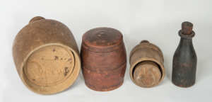 Four Pieces of Early New England Woodenware